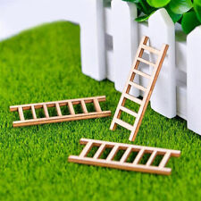 5pcs Mini Wooden Step Ladder Home Decor Miniature DIY Micro Landscape Ornament