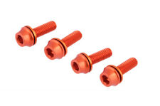 x4 New Bike M5x16mm Water Bottle Cage Bolt w/ Washer Screws Road MTB - Orange