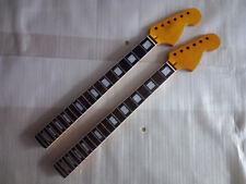 2 pcs electric guitar parts big head Guitar Neck 22 frets white block inlay