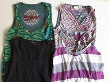 H&M Damen Bekleidungspaket T-shirt ohne Arm Tank Top schwarz grün bunt Gr. 34 S