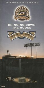 1999 Milwaukee Brewers Official Media Guide 290 Pages Robin Yount L@@K Scans !!