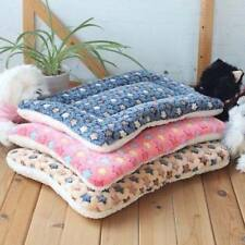 Washable Pet Dog Puppy Cat Kennel Pad Bed Cushion Warm Soft Fleece Mat Blanket