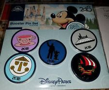 DISNEY PINS 2018 ATTRACTION BOOSTER PACK 5 PINS SPACE MOUNTAIN PIRATES & MORE
