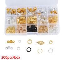 200x/box Hair Dreadlocks Hair Braid Rings Metal Hair Cuffs Hair Braiding Bead Kn