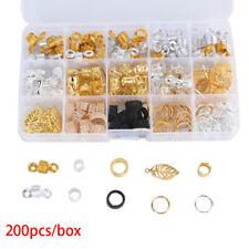 200pcs Hair Braid Dread Dreadlock Beads Adjustable Cuff Clip Metal Tube Lock