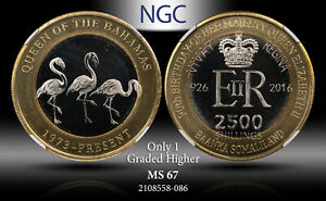 2016 SOMALILAND 2500 SHILLINGS FLAMINGO NGC MS67 ONLY 1 GRADED HIGHER #B