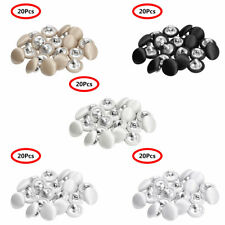20x Satin Half-Dome Shape Large Metal Loop Craft Sewing 10mm Round Shank Buttons