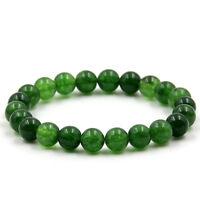 8mm Green Jade Tibet Buddhist Prayer Worry Beads Mala Bracelet