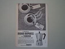 advertising Pubblicità 1966 CAFFETTIERA MOKA EXPRESS BIALETTI