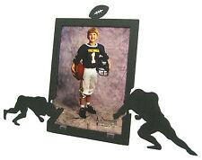 "Football Black Metal Picture Frame 5""x7"" V"