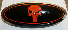 Ford F150 2005-2014 Overlay Emblem Decal Punisher Black/Red FRONT & REAR