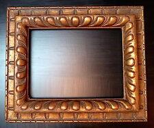 CADRE ITALIE À GODRONS DORÉ st XVII profil inversé 41 x 31 cm FRAME XIX Ref C343