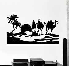 Wall Stickers Desert Egypt Oasis Travel Camel Mirage Vinyl Decal (ig1024)