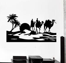 Wall Stickers Desert Egypt Oasis Travel Camel Mirage Vinyl Decal (ig1024)