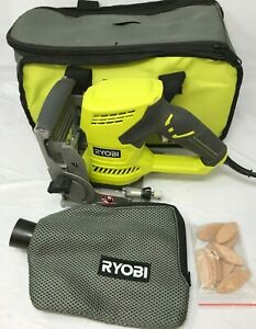 Ryobi JM83K 6 Amp AC Biscuit Joiner with Dust Collector, N