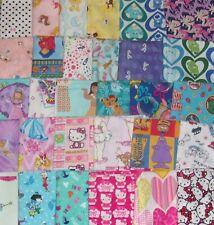 1/2 YARD PRE-CUT Disney Princess Hearts Hello Kitty Flinstone Cotton Fabric