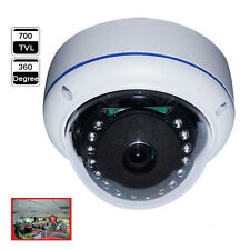 360 Degree Fisheye Wide Angle 700TVL 1/3 SONY CCD OSD Meun IR Dome CCTV Camera