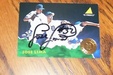JOSE LIMA SIGNED AUTOGRAPHED 1995 PINNACLE CARD # 148 DETROIT TIGERS