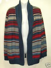 NWT Womens Ralph Lauren Stripe Shawl Collar Southwestern Cardigan Sweater M $175