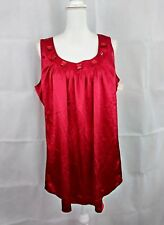 studio 1940 womens size 18/20 red sleeveless 96% polyester top NWT