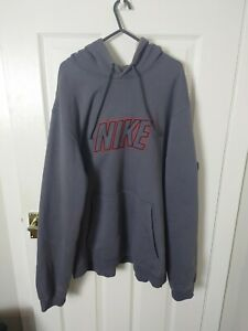 Vintage/ retro Nike spellout centre Logo hoodie Jumper Streetwear Oversized XL