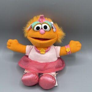 """Fisher Price Sesame Street 8"""" Zoe Ballerina Plush 2003"""