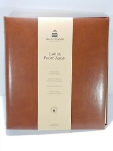 Leather Gallery Leather Photo Album -3-Ring - 30 Pgs -11.75x10.50 - Acadia Tan