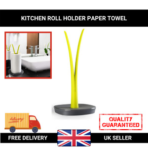Free Standing Kitchen Roll Holder Paper Towel Toilet Sturdy Weighted Base