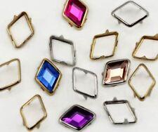 10X7MM Diamond Rim Settings 40 Pieces Gold
