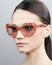 MIU MIU Rose Pink Glitter 04OS Acetate Cat Eye Sunglasses *NEW & AUTHENTIC*
