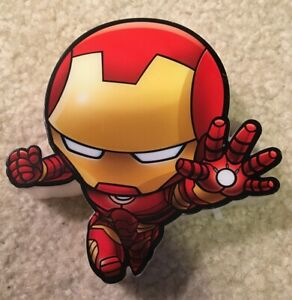 "Marvel Mini Iron Man LED Night Light 3D Wall Decor 3DLightFX 4"" Tall Superhero"