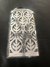 Bath & Body Works Gentle FOAMING Hand Soap Sleeve Silver LEAVES DOTS Chrome
