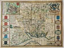 John Speede Original Map Of Hampshire