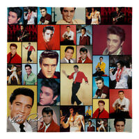 Large Warm Sofa Fleece Throw Elvis Presley Colour Montage Soft Blanket Gift