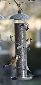 NIGER FEEDER - Wild Bird Nyjer Seed Feeding Tube kf Finch Nyger Feed fad Holder