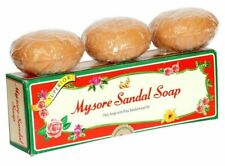 MYSORE SANDAL SOAP SOAP ONLY SOAP WITH PURE SANDALWOOD OIL 75g ( Pack of 3 )