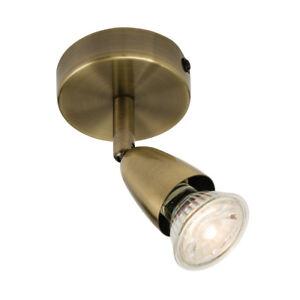 AMALFI GU10 Indoor Ceiling Spotlight - Adjustable Wall Light White/Silver/Brass