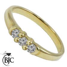 Very Good Cut Not Enhanced Three-Stone I1 Fine Diamond Rings