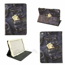 PU Leather Stand Book Case Cover Jeans Pocket Money Design For iPad Mini 1 2 3