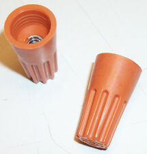 Lot of 100 - Twist-On Orange Wire Connector Nut with Spring Insert- 10-0003C