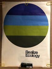 Original Vintage Poster Ecology Black Light 1970s Headshop pinup biology Science