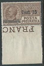 1924-25 REGNO POSTA PNEUMATICA 15 SU 10 CENT MNH ** - M19-7