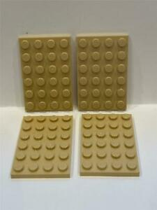 1x Plate Plaque 4x6 6x4 3032 Trans Dark Blue//Bleu Lego