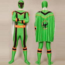 Power Rangers Cosplay Halloween Costumes Superhero Adult Bodysuit Zentai Cloak