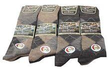 6  Pairs Lamb Woolblend Non elastic Lycra socks mixed browns UK 6-11