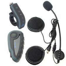 1200M Bluetooth Casco Da Moto Interfono Interphone Cuffie V8 + Telecomando