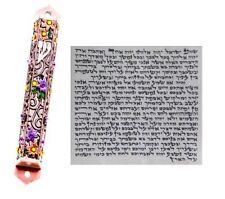 Metal Mezuzah With Kosher Scroll Mezuza Case Jewish Hebrew Judaica Gift