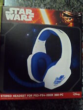 Star Wars Stereo Headset Gaming Nuevo Auricular PS3 PS4 Xbox 360 PC Disney New.