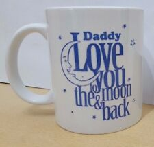Daddy Love You Moon & Back Mug Novelty Gift Fathers Day Present Idea Family