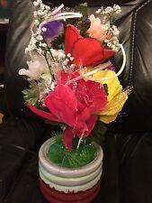 Vintage Modern Trends Fibre Optic Flower with Moving Flower Petals in Vase X4358